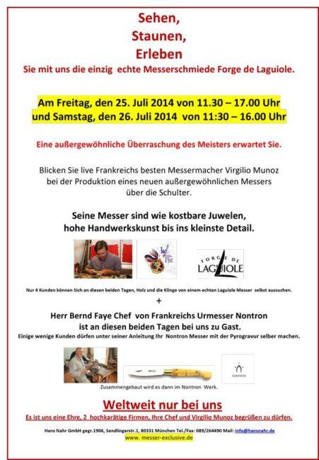 forge laguiole nontron munich - Forge de Laguiole & Nontron event in Munich