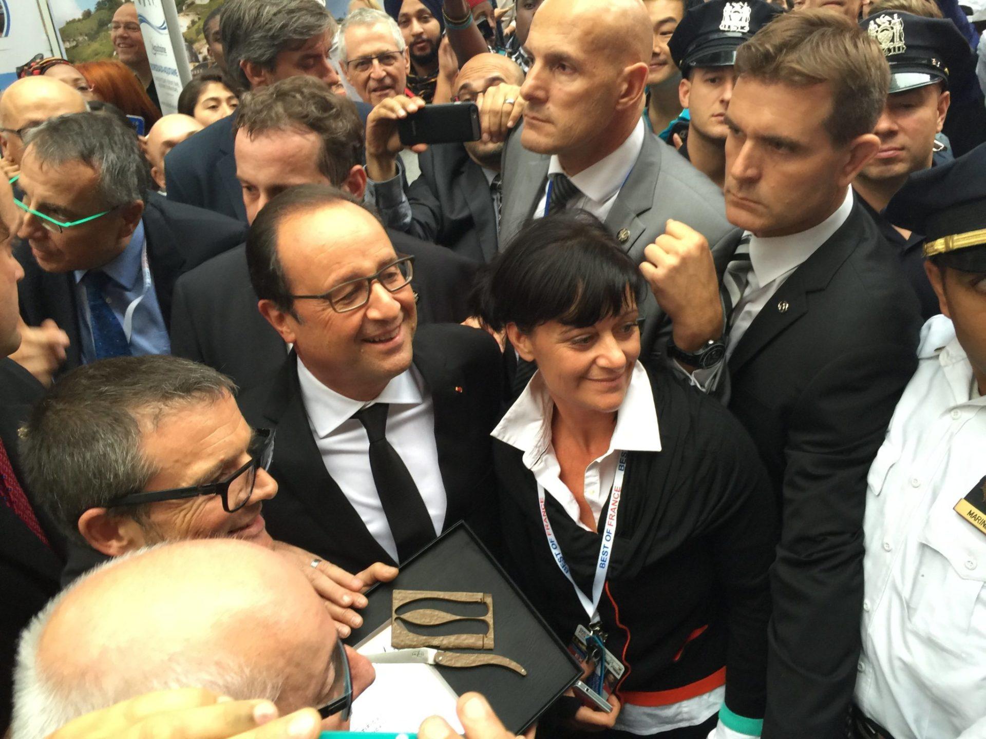 Le président de le République a parlé Indication géographique avec Thierry Moysset.