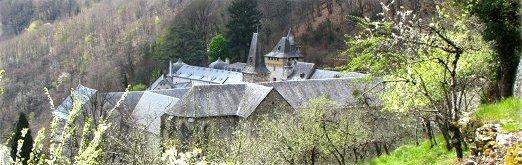 L'abbaye de Bonneval, en Aveyron, tout près d'Espalion.
