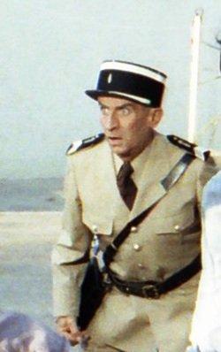 Inénarrable dans le rôle du gendarme Cruchot.