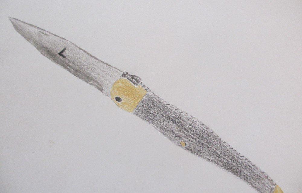 dessin couteau laguiole