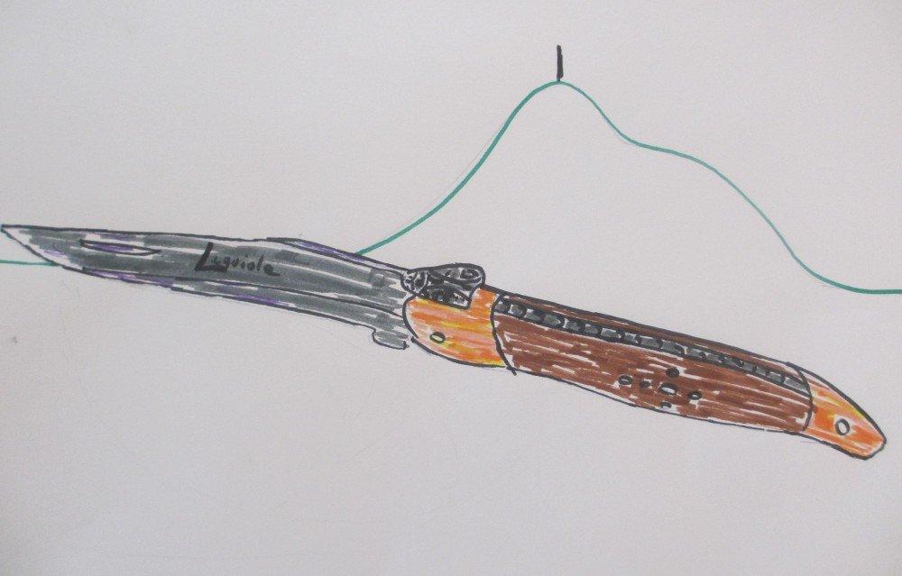 dessin couteau Forge de Laguiole