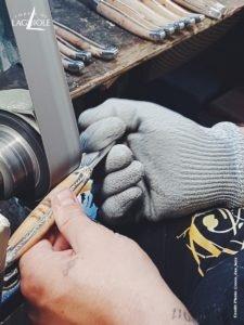 Fabrication d'un manche de couteau