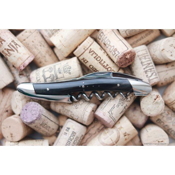 Kopie von 08E53055 3F5E 4D43 88E3 79646C680DC4 - Couteau de sommelier en corne foncée