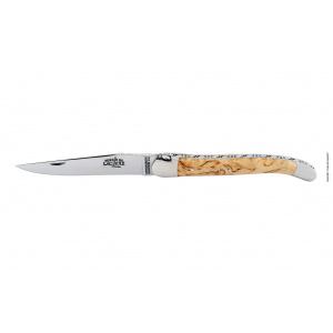 1212F INBOBRI laguiole hand chiselled folding knife birch wood 12 cm - Achat en ligne