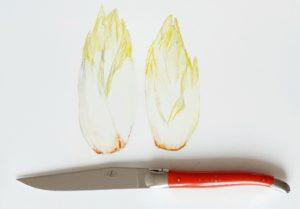 couteaux laguioles pour couper des endives