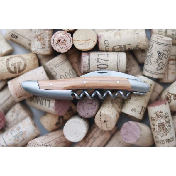 SOM OL 2 - Sommelier Messer, satiniert mit Griff aus Olivenholz