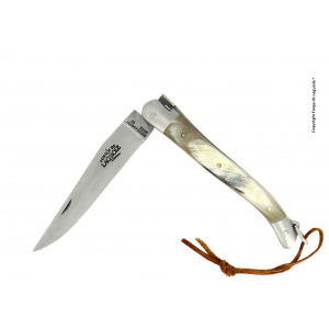Achat couteau Laguiole manche corne vache Aubrac
