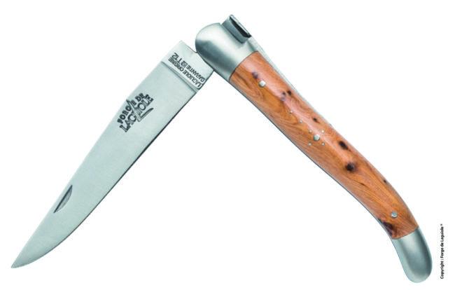 gamme de couteaux de  laguiole Tradition, finition satinée.