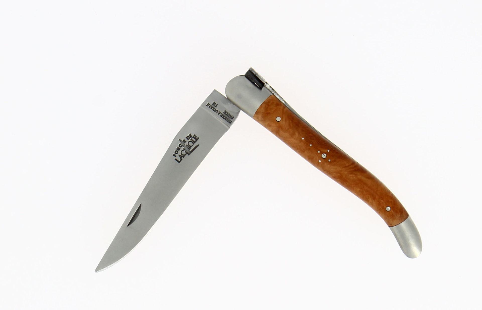 couteau pliant de poche forge de laguiole manche bruyère