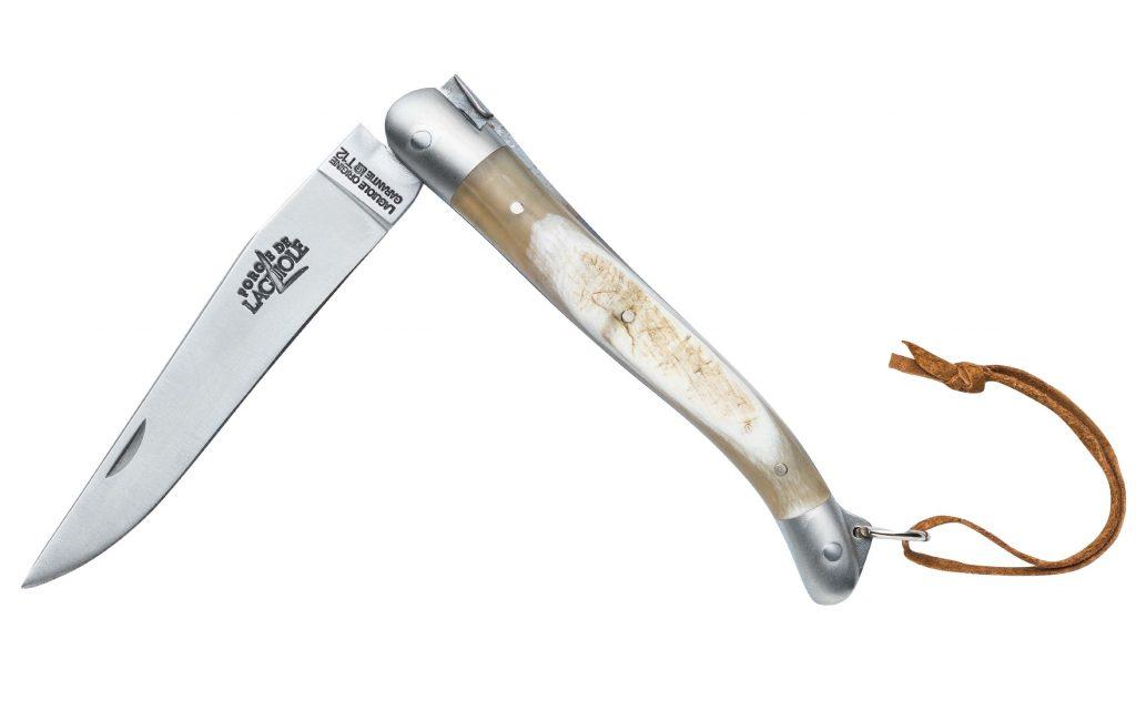 acheter un couteau de laguiole pliant manche corne de vache aubrac