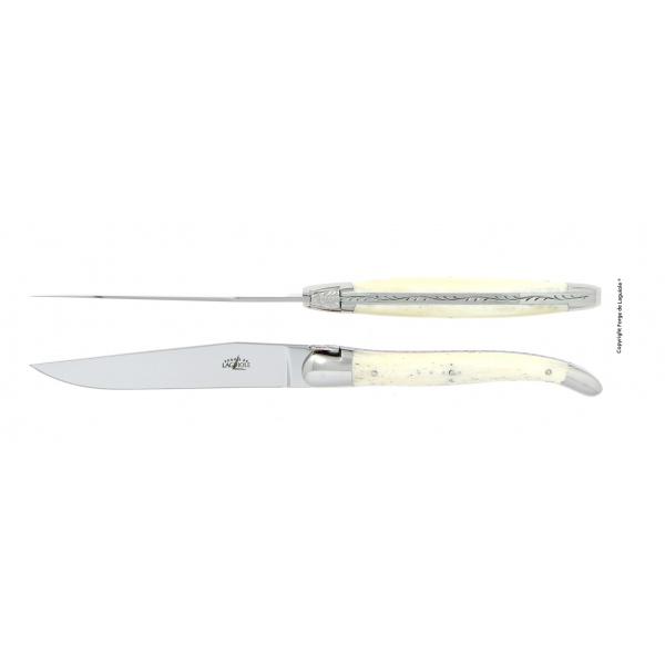 Acheter en ligne couteaux de table laguiole en os