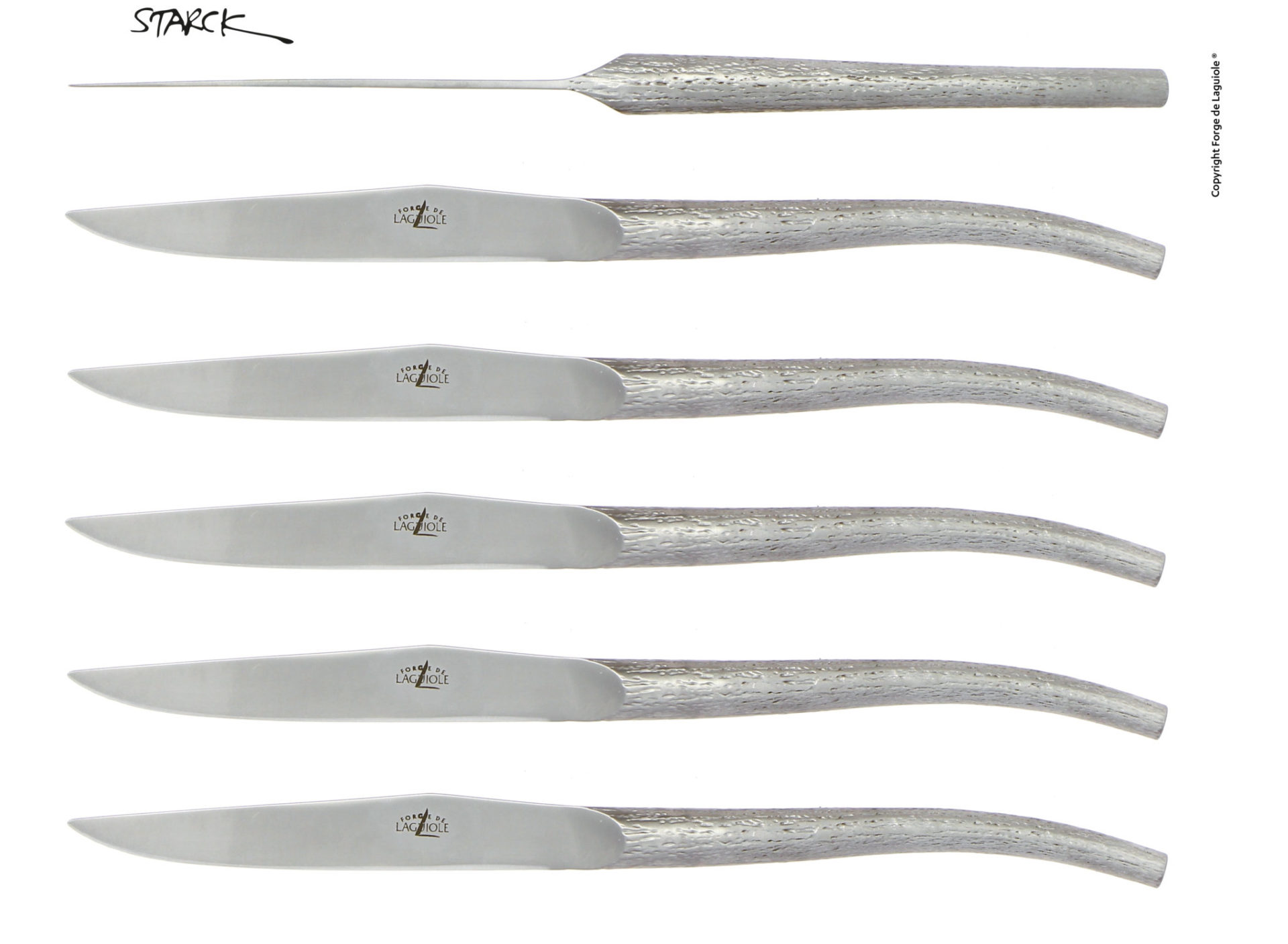 couteau de table design philippe starck forge de laguiole