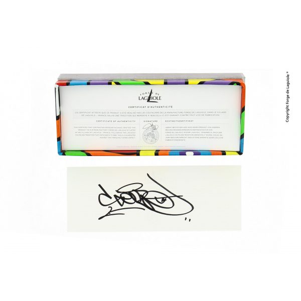 """Coffret COLLECTOR Signature - LIMITED EDITION - Seize folding knife - Sublimation Street Art """"Antares"""""""
