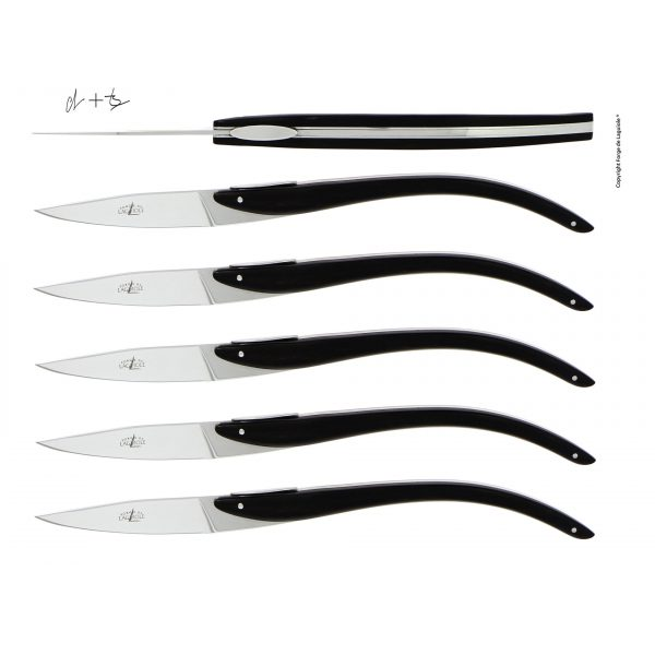 T6 ASP EB - Table knives C + B Lefebvre with ebony handle for Anne-Sophie Pic, set of 6
