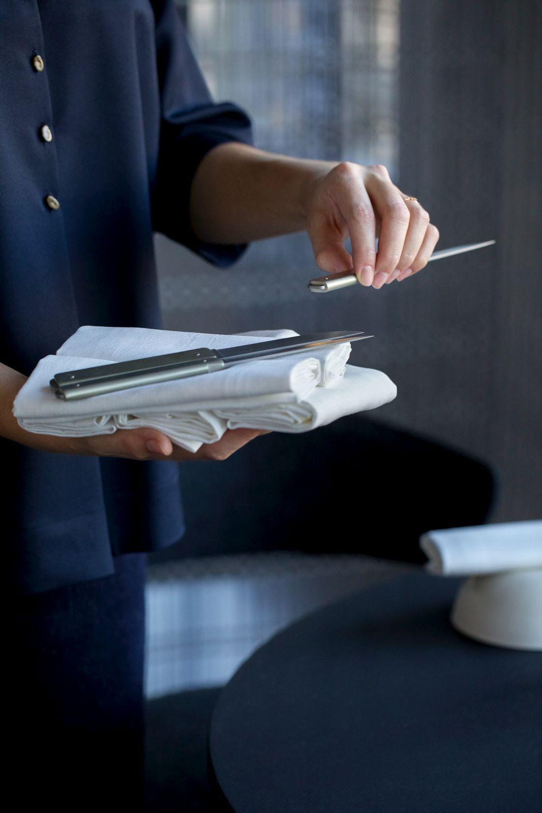 couteau de laguiole de table pour Sébastien et Michel Bras