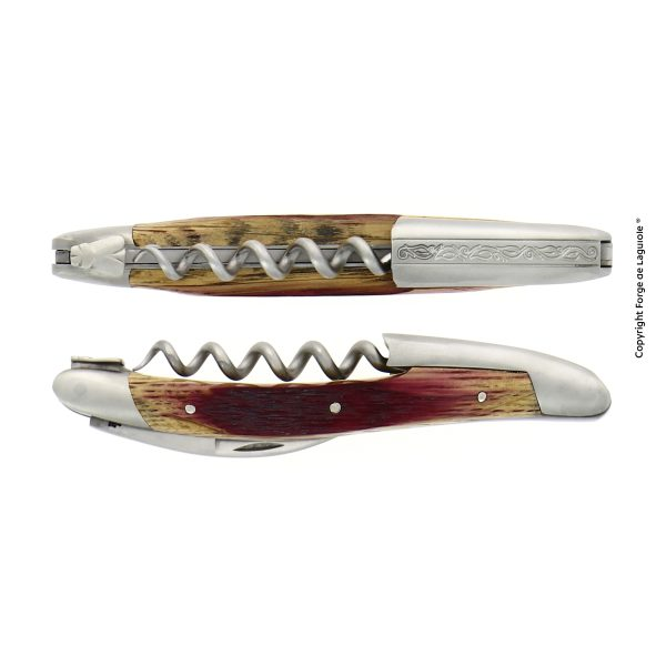 SOM CHB SAT PINOT - Sommelier knife, satin finish with Barrel oak handle, engraving of the lever